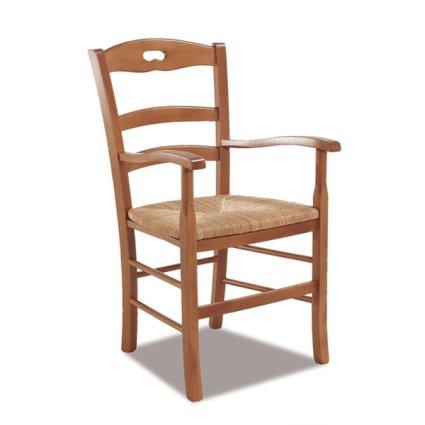 Savoy Rustic Wooden Armchair for kitchen bars restaurants Sedie e tavoli 42BP 0
