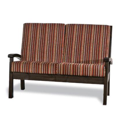 Sirio 2 seats Sofa rustic wood for home hotels bandb comunity Moderno giorno 5DVSIR20S02 0