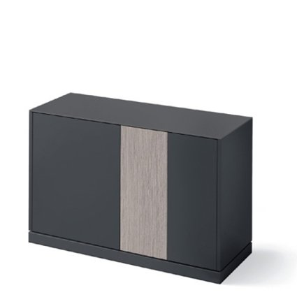 Domitalia Contour-125-Lacquered Anthracite Matt Sideboard  Cupboards DO-CONTOUR-125-LACCATO-ANTRACITE-OPACO 0