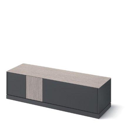 Domitalia Contour-tv-Lacquered Anthracite Matt Tv Stand Living Room Furnishing DO-CONTOUR-TV-LACCATO-ANTRACITE-OPACO 0