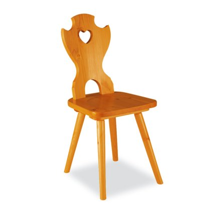 Curva Cuore wood Chair rustic country kitchen restaurant community bar Chairs, Armchairs, Stools and Benches MI-1SDTEBS 0
