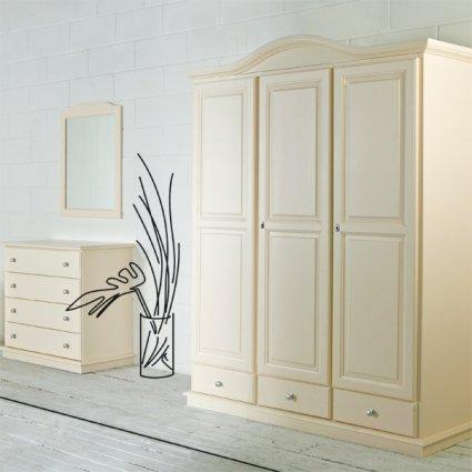 Venere 3 doors wooden wardrobe for home hotels bandb comunity Bedroom Furniture MI-3ARVEN3ACB2 0