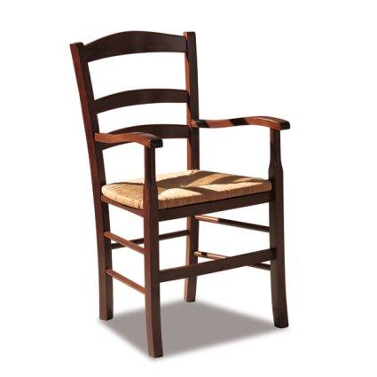 Venezia Rustic Wooden Armchair for kitchen bars restaurants Sedie e tavoli 42AP 0