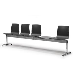 Scab Design Alice 4 seats Bench Fireproof with shelf Panche SD-2773 0