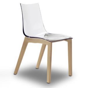 Scab Design Natural Zebra Antishock transparent shell Chair Sedie SD-2805-F 0