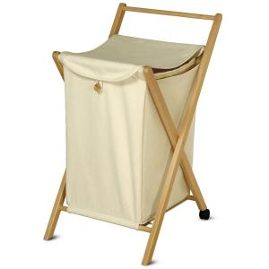 Folding wooden Laundry Basket Smart for home hotels bandb comunity Bathroom Furniture DF-3035 0
