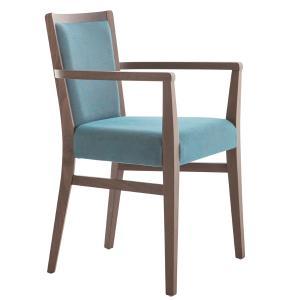 Moma Soft Modern Wooden Armchair for house bars restaurants Palma 472HP 0