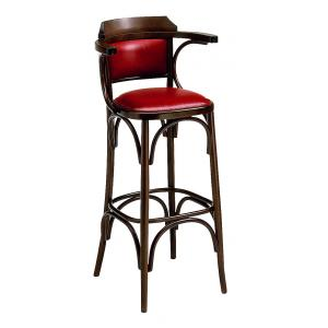 Sassonia Upholstered Stool  viennese style tonet bistrot for home restaurants pizzerias community bar Chairs, Armchairs, Stools and Benches SE-600-IMB-SG 0