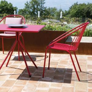 Aria Vermobil Stackable metal armchair for garden Sedie VM-AI300 1