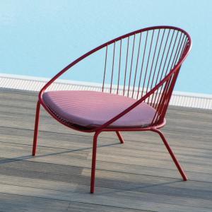 Aria Vermobil Stackable metal lounge armchair for garden Sedie VM-AI600 1