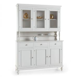 Michelangelo wooden 3-door sideboard in shabby chic style for home, restaurants, community, hotels Imba IM-6031/A 1