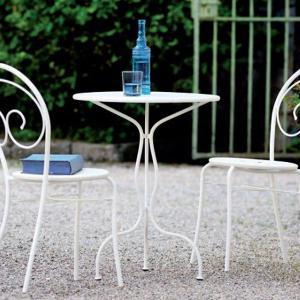 Rondò Vermobil fixed round metal Table 60 for garden Tavoli VM-SP119 1