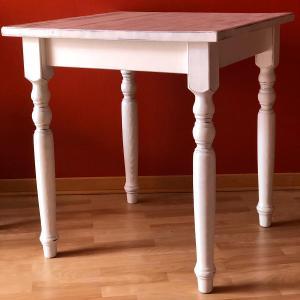 Rustic wooden Table Antique Shabby Chic White Avea AV-T/0 1