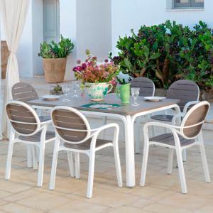 Set Alloro Table + 6 Palma Armchairs OFFERTE NA-42853-40237 0