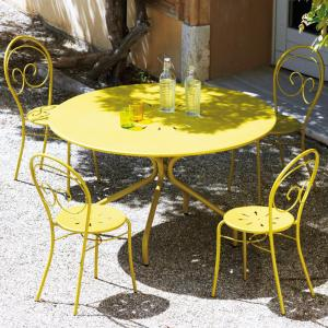 Springtime Vermobil fixed round metal Table 130 for garden Tavoli VM-SP2130 1