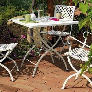 Springtime Vermobil Folding square metal table for garden Tavoli VM-SP3125 1