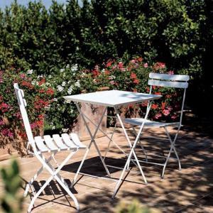 Step Vermobil Folding squared metal table for garden Tavoli VM-ST7070 1