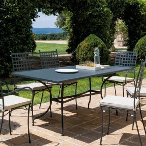 Tosca Vermobil fixed rectangular metal Table for garden Tavoli VM-TO3180 1