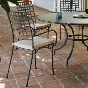 Tosca Vermobil Stackable metal armchair for garden Sedie VM-TO301 1