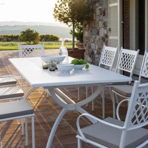 Valentino Vermobil metal rectangular table extendable from 220 to 300 for garden Metal Tables VM-VA4301 1