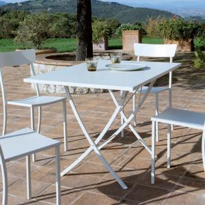 Vegas Vermobil Folding square metal table for garden Tavoli VM-VE2080 1