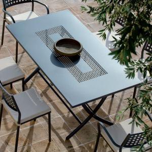 Vegas Vermobil rectangular folding metal table 185 cm for garden Tavoli VM-2185D 1