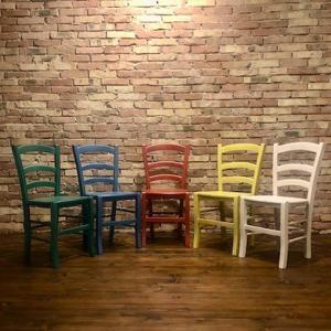 Venezia Chair wooden seat for home restaurants pizzerias community bar Palma 42A-SL 1
