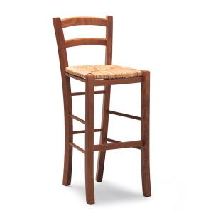 Venezia High h.75 wooden stool with straw seat for home, restaurants, pizzerias, communities and bars OFFERTE 42AAH75-RIST 0
