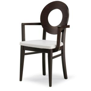 Dea Modern Wooden Armchair for dining room bars restaurants Sedie e tavoli 47UP 0
