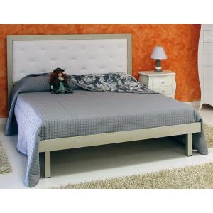 Capitonnè Domus Double Bed  Bedroom Furniture DM-LTCA-Laccato Argento 0