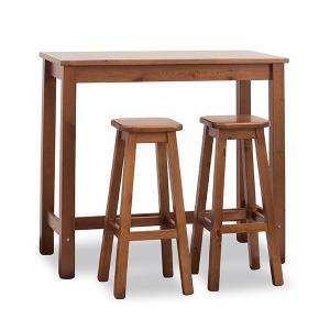 Set Tara Tavolo alto rettangolare 120x60 + 2 sgabelli in legno per casa, ristoranti, pizzerie, comunità e bar Avea AV-H/309-A-T/123-BAR 0