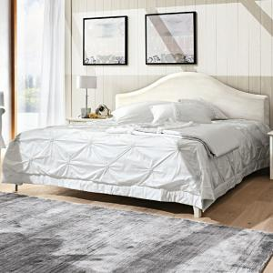 Gendarme Romantic rustic shabby chic style wood double Bed Beds CA-R0062 0