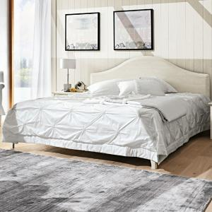Gendarme rustic shabby chic style wood double Bed Beds CA-V0068 0