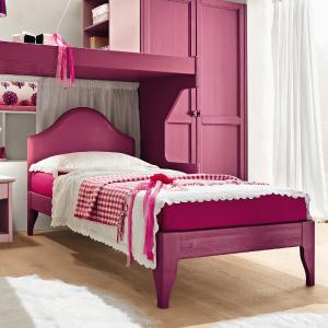 Gendarme rustic shabby chic style wood single Bed Beds CA-V0060 0