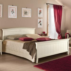 Romanza rustic shabby chic style wood double Bed Beds CA-R0070 0