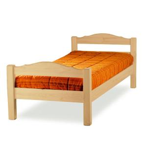Mercurio single bed raw wood Hobby Shop 3LTMER089S200 0