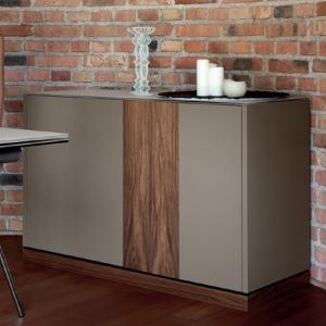 Domitalia Contour-125-Lacquered Turtledove Matt Sideboard  Cupboards DO-CONTOUR-125-LACCATO-TORTORA-OPACO 0