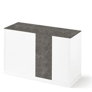 Domitalia Contour-125-Lacquered White Matt Sideboard  Cupboards DO-CONTOUR-125-LACCATO-BIANCO-OPACO 0
