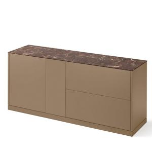 Domitalia Contour-185-Lacquered Turtledove Matt Sideboard  Cupboards DO-CONTOUR-185-LACCATO-TORTORA-OPACO 0