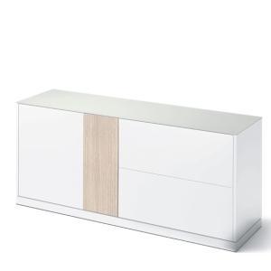 Domitalia Contour-185-Lacquered White Matt Sideboard  Cupboards DO-CONTOUR-185-LACCATO-BIANCO-OPACO 0