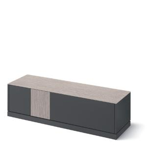 Domitalia Contour-tv-Lacquered Anthracite Matt Tv Stand Living Room Furnishing DO-CONTOUR-TV-LACCATO-ANTRACITE-OPACO 0