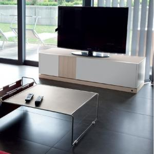 Domitalia Contour-tv-Lacquered White Matt Tv Stand Living Room Furnishing DO-CONTOUR-TV-LACCATO-BIANCO-OPACO 0