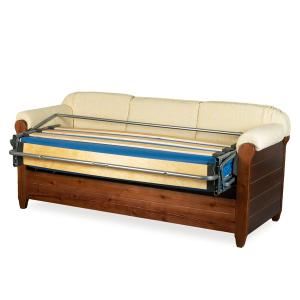 Venezia 3 seats Sofa Bed rustic wood for home hotels bandb comunity All products 5DLVNZ3OM02 0