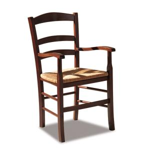 Venezia Rustic Wooden Armchair for kitchen bars restaurants Sedie e tavoli 42AP 0