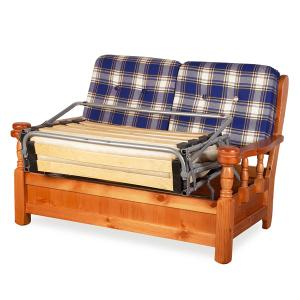 Vienna 2 seater sofa bed rustic wood for home hotels bandb comunity Sofas MI-5DLVIE2 0