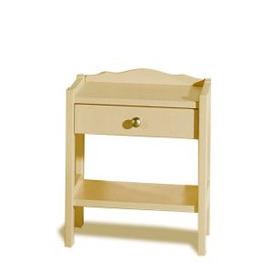 Vulcano Bedside Dresser raw wood Hobby Shop 4CNVUL1CS0200 0