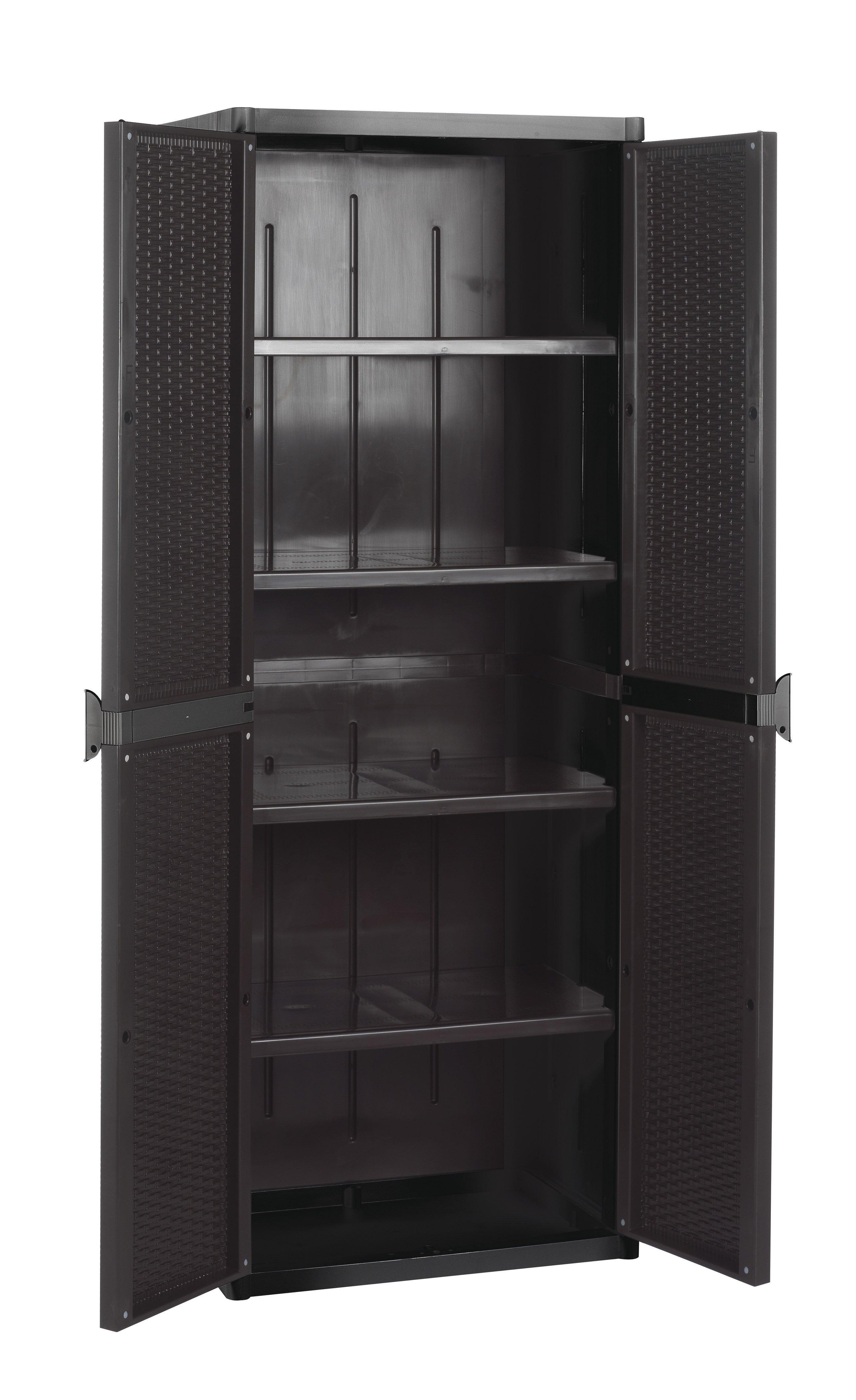 meuble 4 tag res multifonction rattan style system en plastique pour l 39 ext rieur mobilclick. Black Bedroom Furniture Sets. Home Design Ideas
