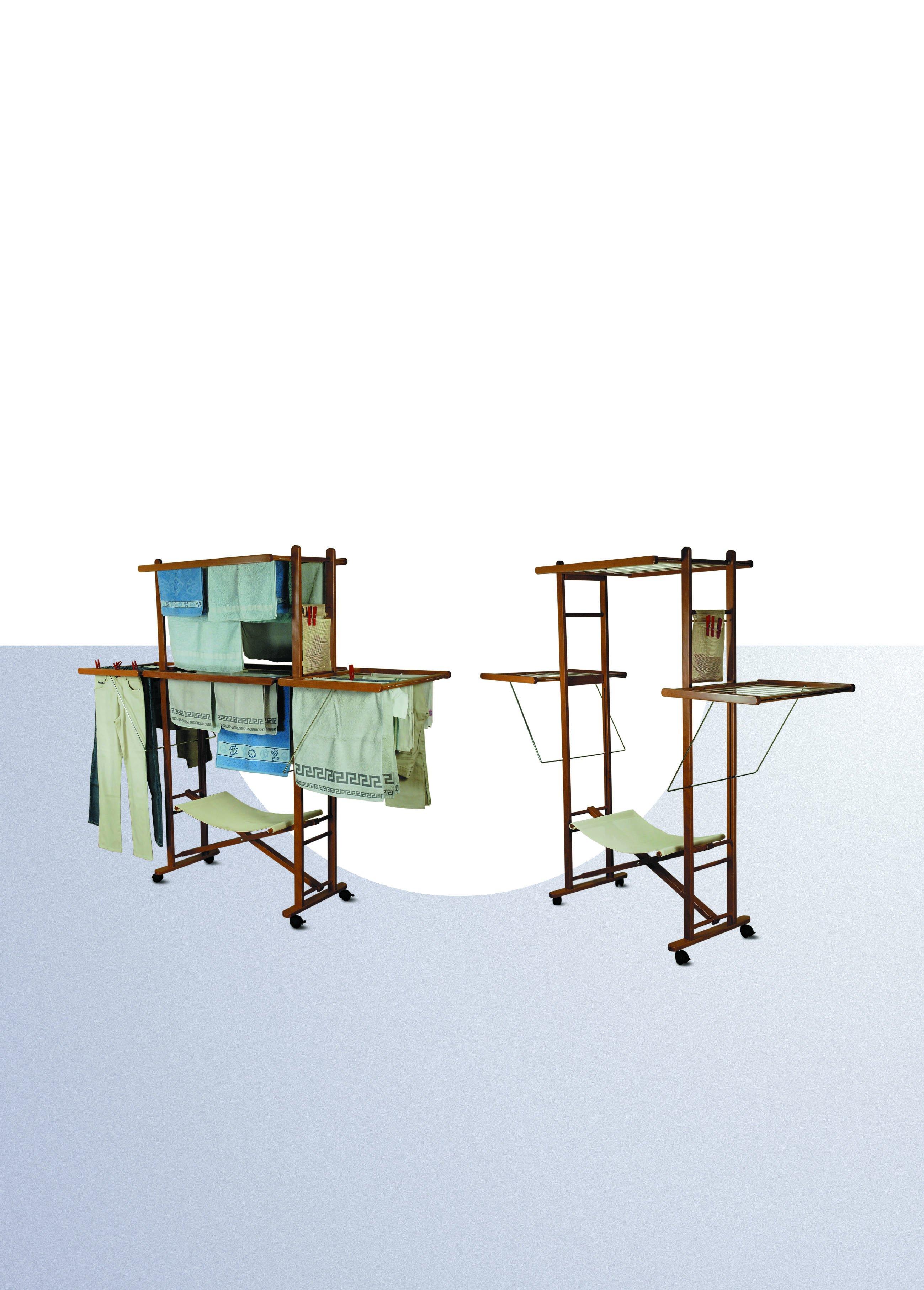 etendoir linge pliante max en bois rustique pour la. Black Bedroom Furniture Sets. Home Design Ideas