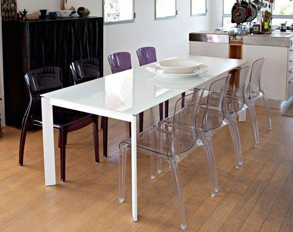 Table moderne pour cuisine salle à manger Universe-130 Domitalia ...
