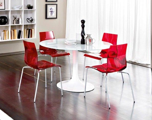 Sedie In Metallo E Plastica : Sedia gel b basamento metallo seduta plastica polipropilene